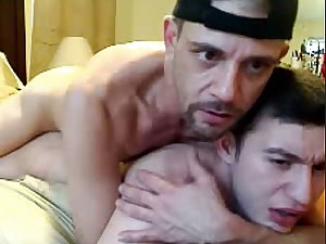 Dad Fucks His Friends Son On Webcam