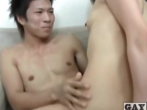Japanese gays have fun together