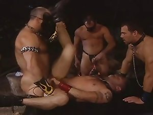 Interracial Bareback Orgy